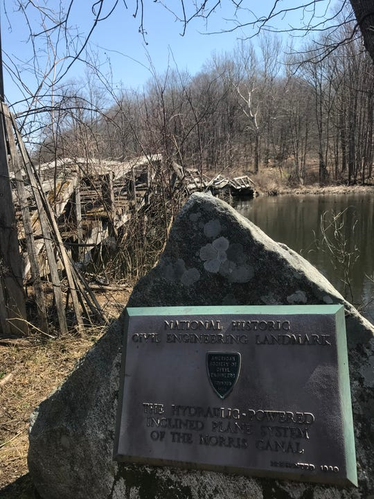 A mule bridge at Waterloo Village in Byram, N.J., as seen on April 4, 2019, is set for replacement before the execution of a $3 million grant for site preservation announced earlier in the week.