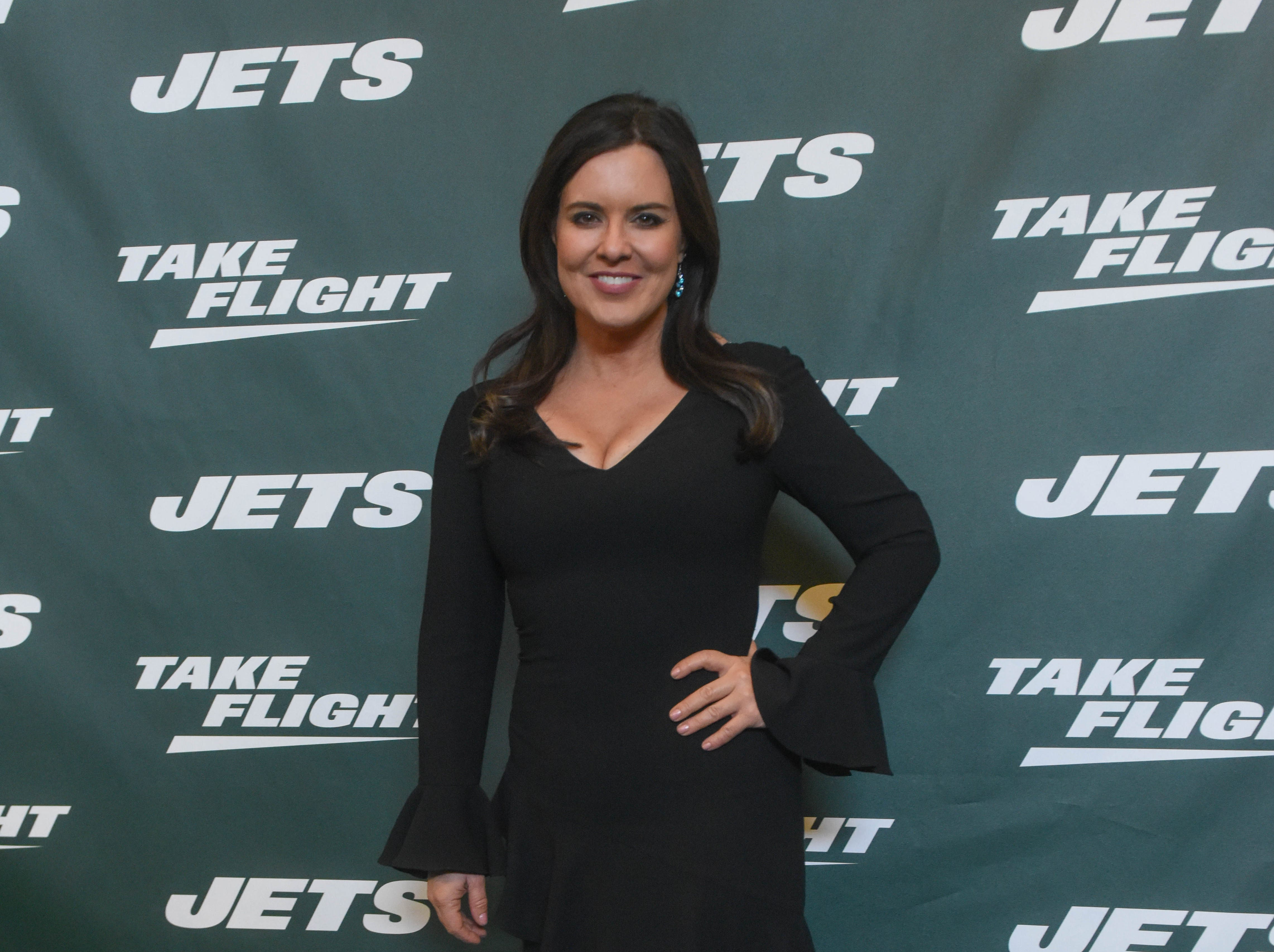 Amy Freeze (ABC News). The NY Jets unveiled their new football uniforms with an event hosted by JB Smoove at Gotham Hall in New York. 04/05/2019