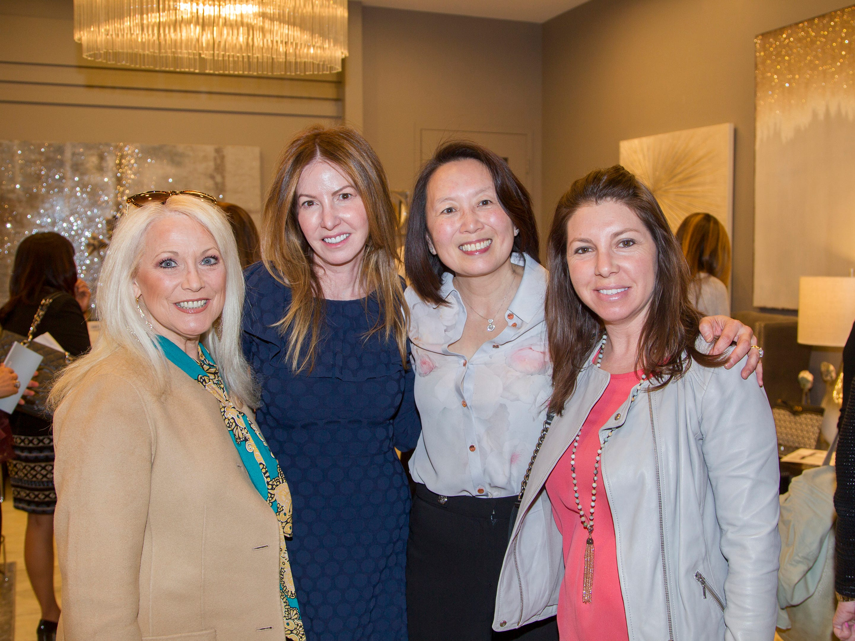 Cathy Tatel, Paula Hian, Jean Holden, Jaime Botta. Westfield Garden State Plaza held its Meet the Artist & Trend Show benefitting The Valley Hospital Auxillary Saddle River Branch. 04/03/2019