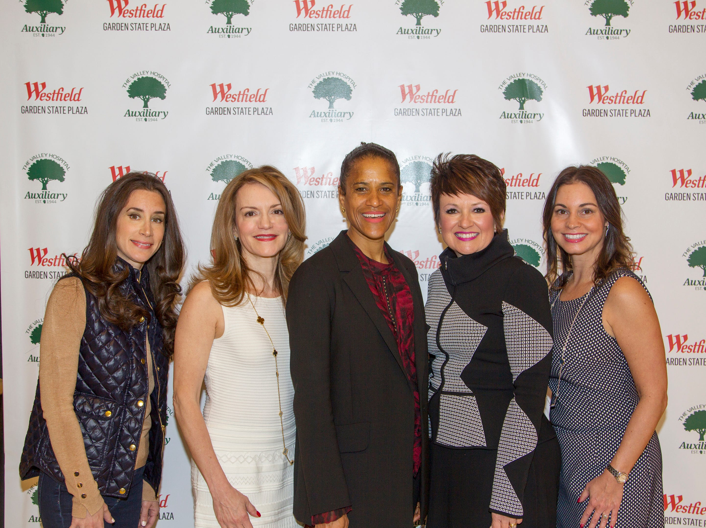 Robyn Stevens, Maria Harper, Isolpe Brielmaier, Nancy Bush, Claudine Siero. Westfield Garden State Plaza held its Meet the Artist & Trend Show benefitting The Valley Hospital Auxillary Saddle River Branch. 04/03/2019