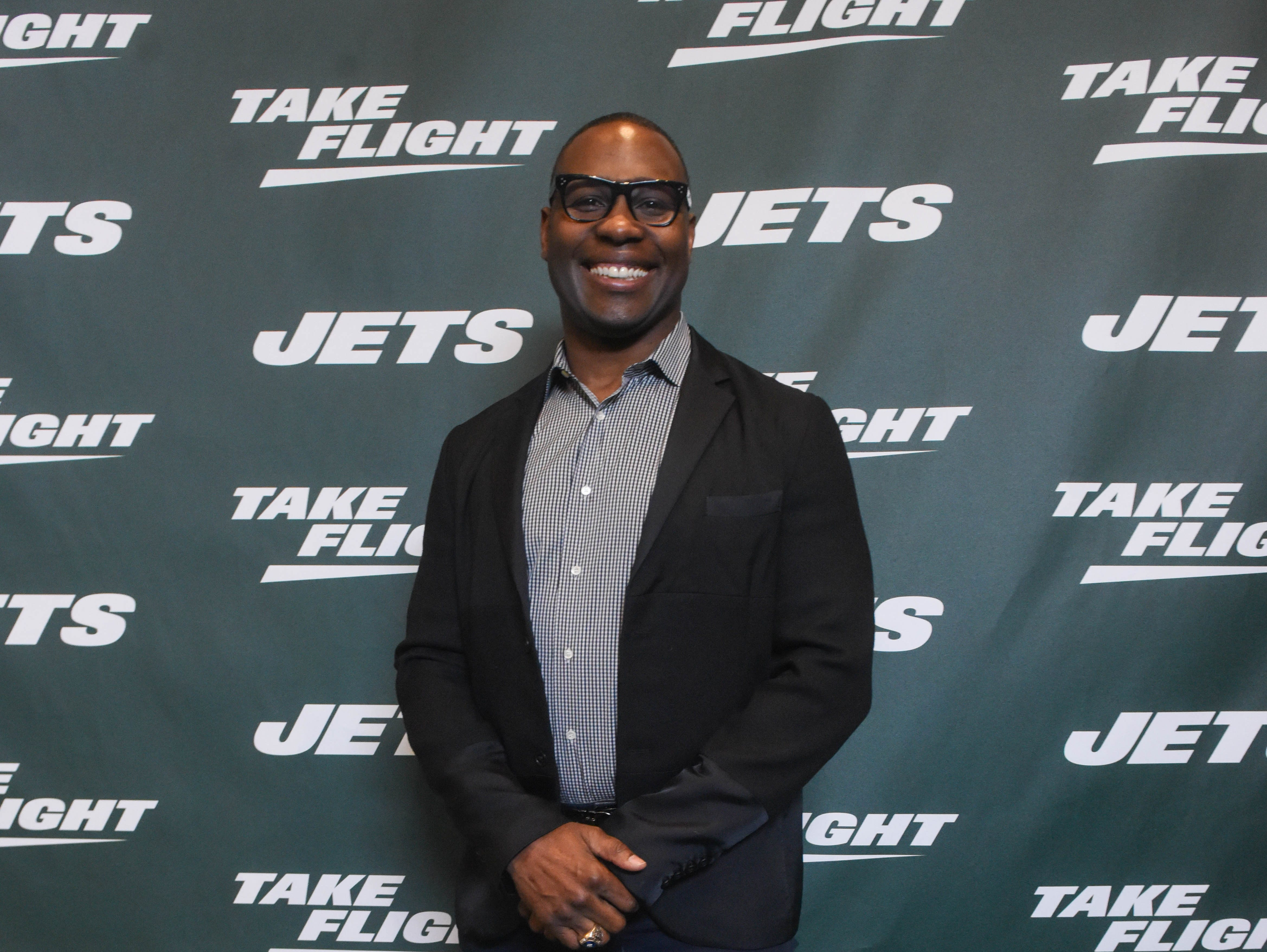Tony Richardson (NY Jets). The NY Jets unveiled their new football uniforms with an event hosted by JB Smoove at Gotham Hall in New York. 04/05/2019