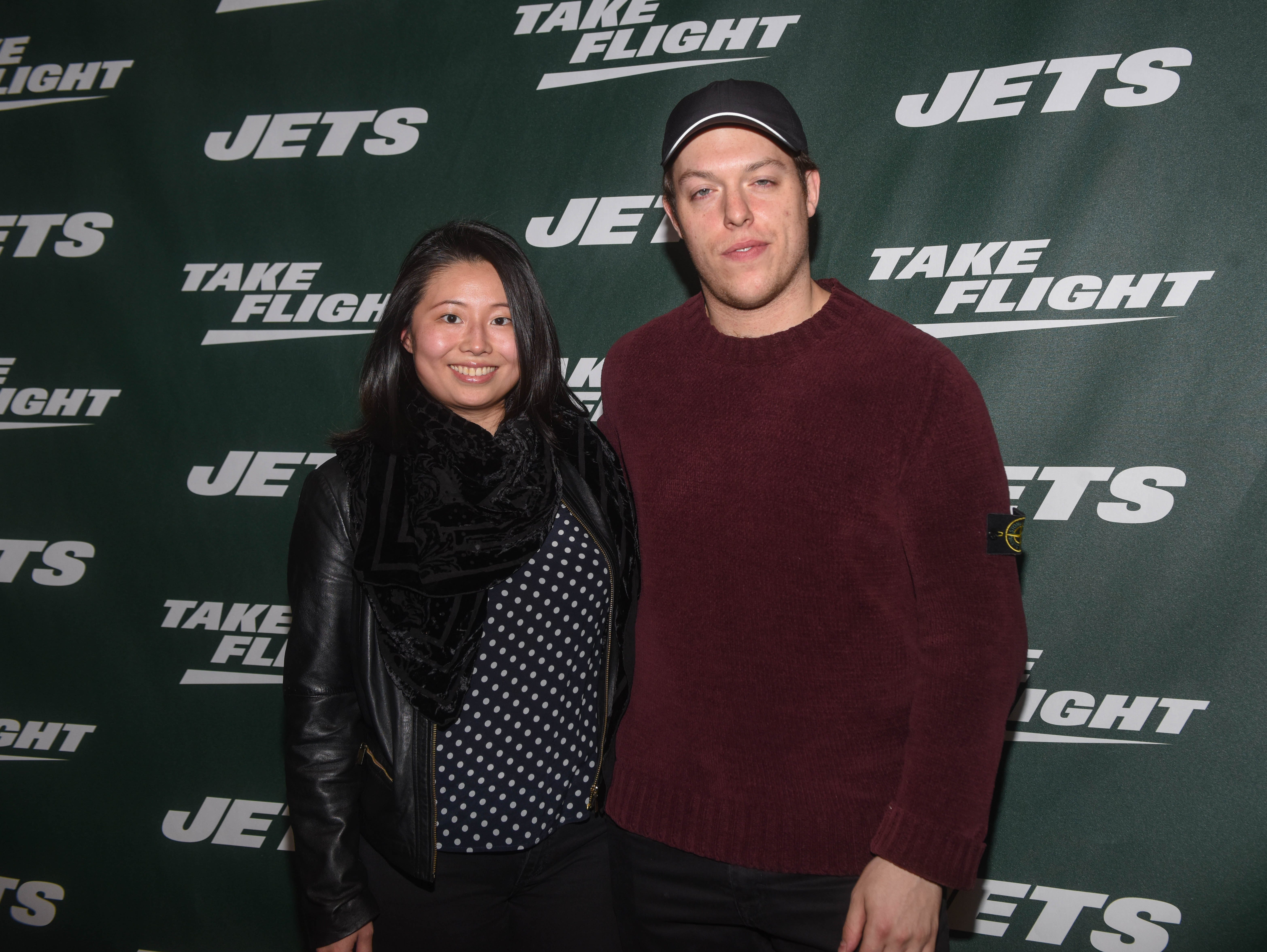 Connor Seltz and guest. The NY Jets unveiled their new football uniforms with an event hosted by JB Smoove at Gotham Hall in New York. 04/05/2019