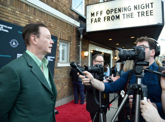 Montclair Film Festival in 2018: FAR FROM THE TREE author Andrew Solomon speaks to the media on opening night of the Montclair Film Festival held at the Welmont Theater in Montclair