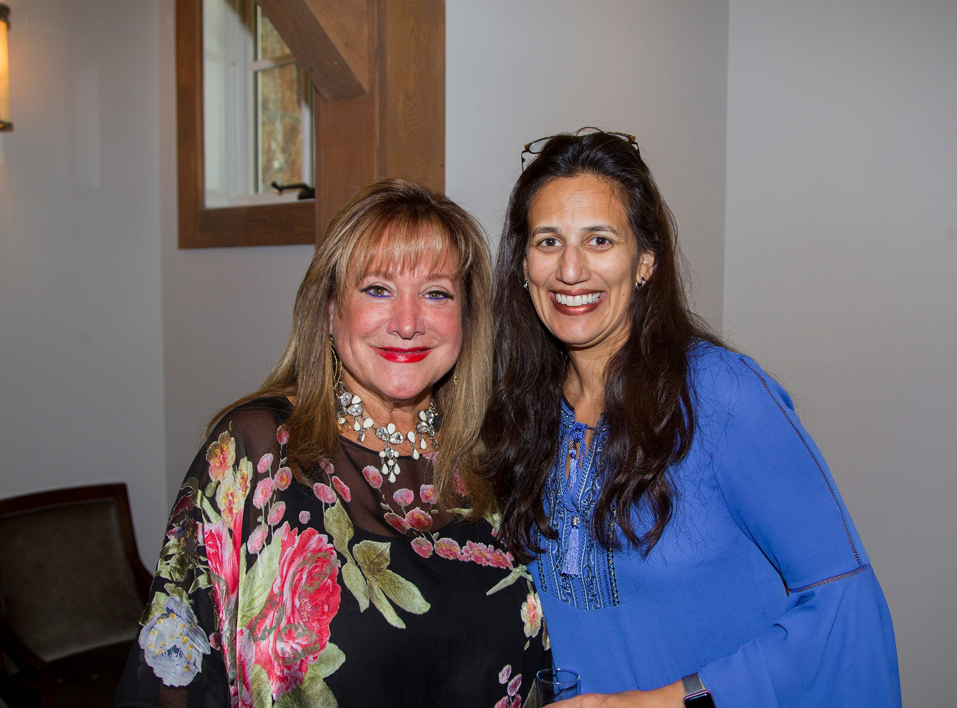 Diane Denberg, Madhu Bewtra. Kaplen JCC on the Palisades held its annual Lavish Lunches for Seniors in our Community. 04/04/2019