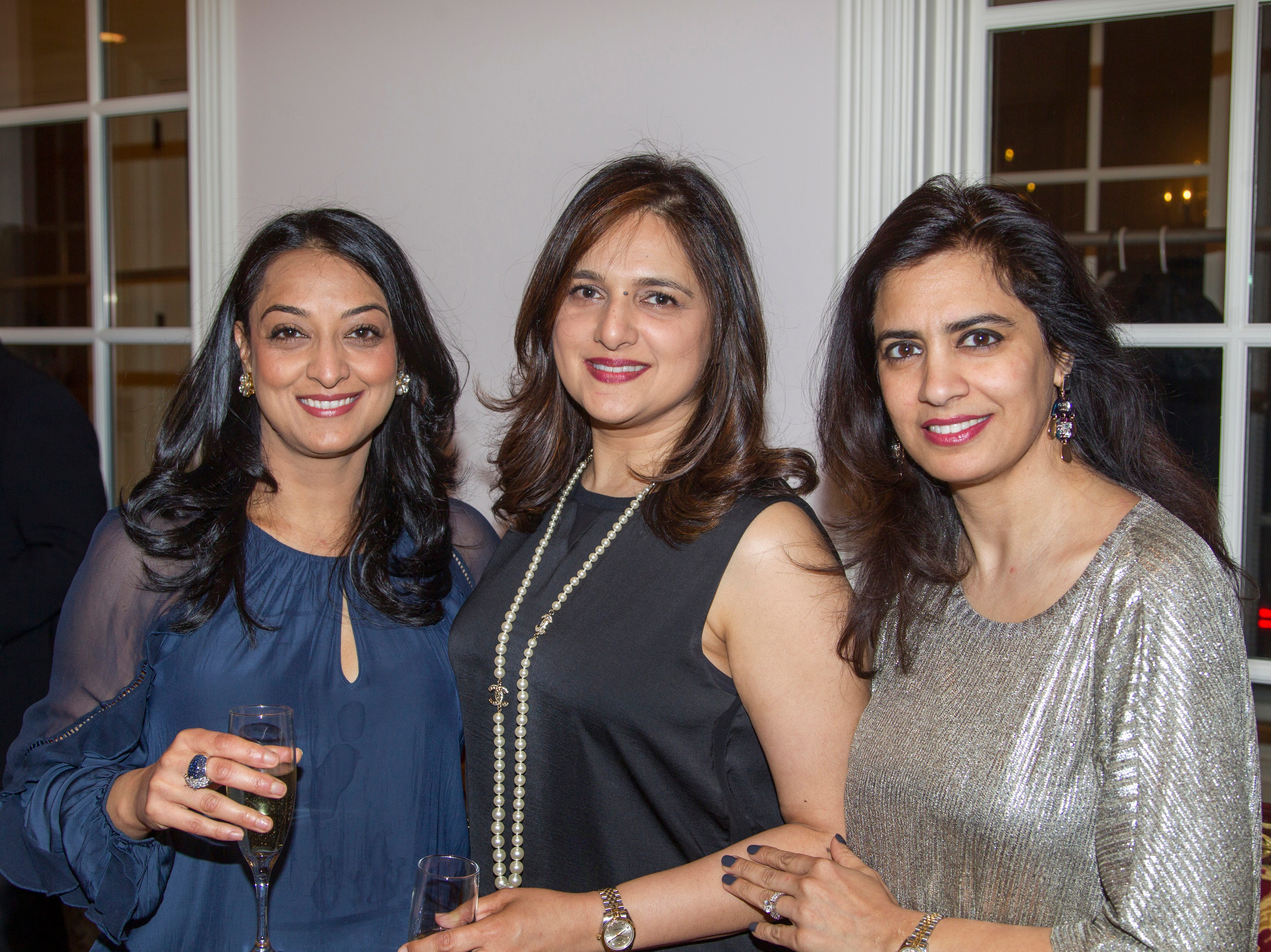 Shalini Tewary, Neena Chima, Pooja Kumar. Saddle River Arts Council presents An Evening of Giving Back featureing Eric Genuis in Saddle River. 03/30/2019