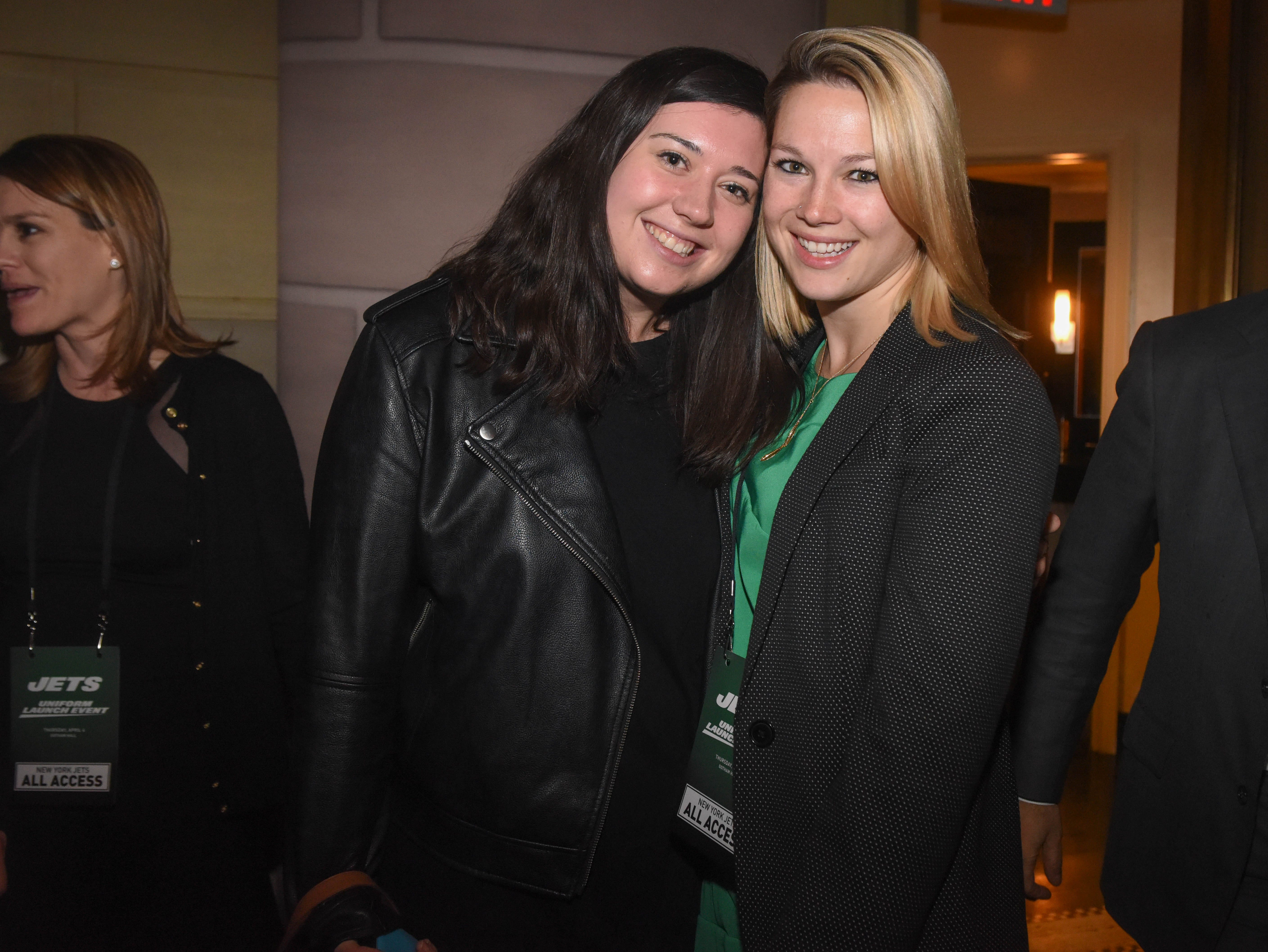 Lindsay and Mary Kate. The NY Jets unveiled their new football uniforms with an event hosted by JB Smoove at Gotham Hall in New York. 04/05/2019