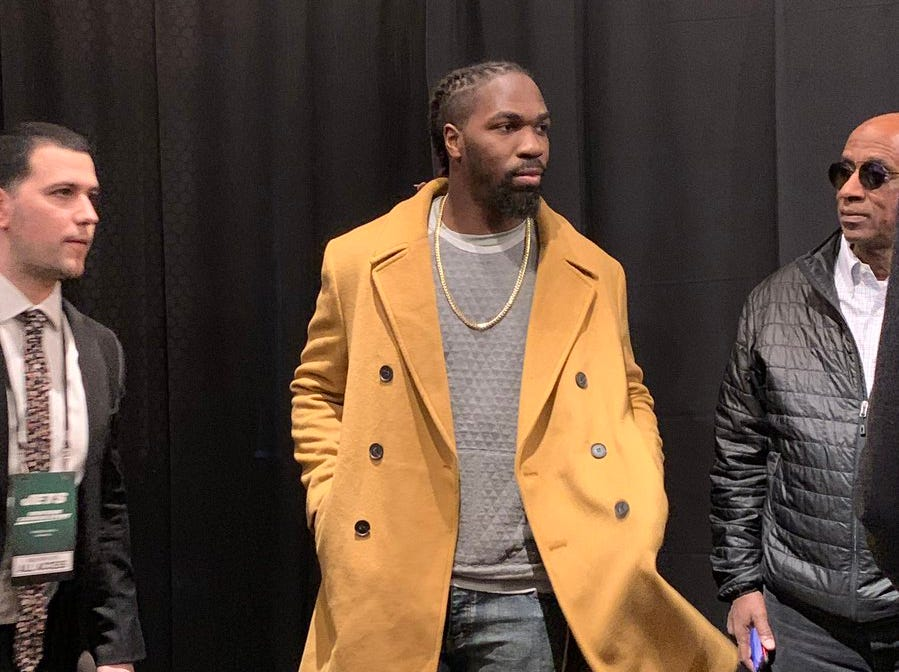 New Jets linebacker  C.J. Mosley was on hand as the New York Jets unveiled  the team's new uniforms on Thursday, April 4, 2019.