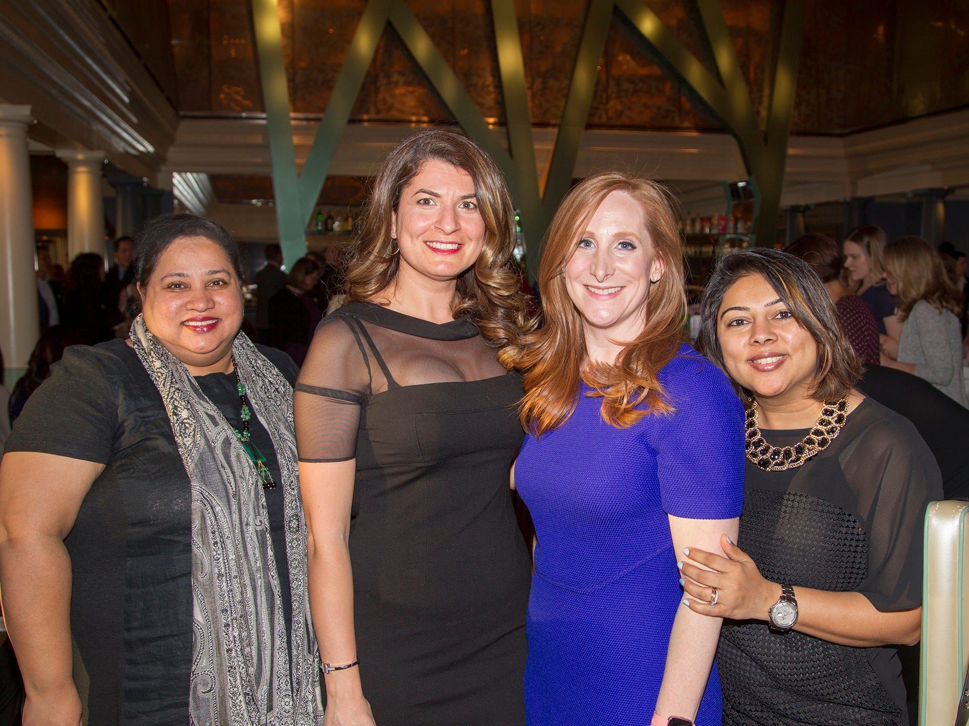 Rose Basum, Ingrit Balikcioglu, Shanna Jafri, Vaishali Shah. Girl Scouts of Northern New Jersey held its Women of Achievement 2019 at Westmount Country Club in Woodland Park. 04/04/2019