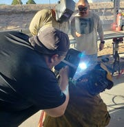 In the 32-hour Steel Pipeline Inspection Course, LCU Gas System Compliance Inspector Ruben Garcia selected one of the gas systems welders to demonstrate start-to-finish welding and had inspectors check fit up to final cap, visually check the weld appearance and conduct a destructive test on the completed weld.