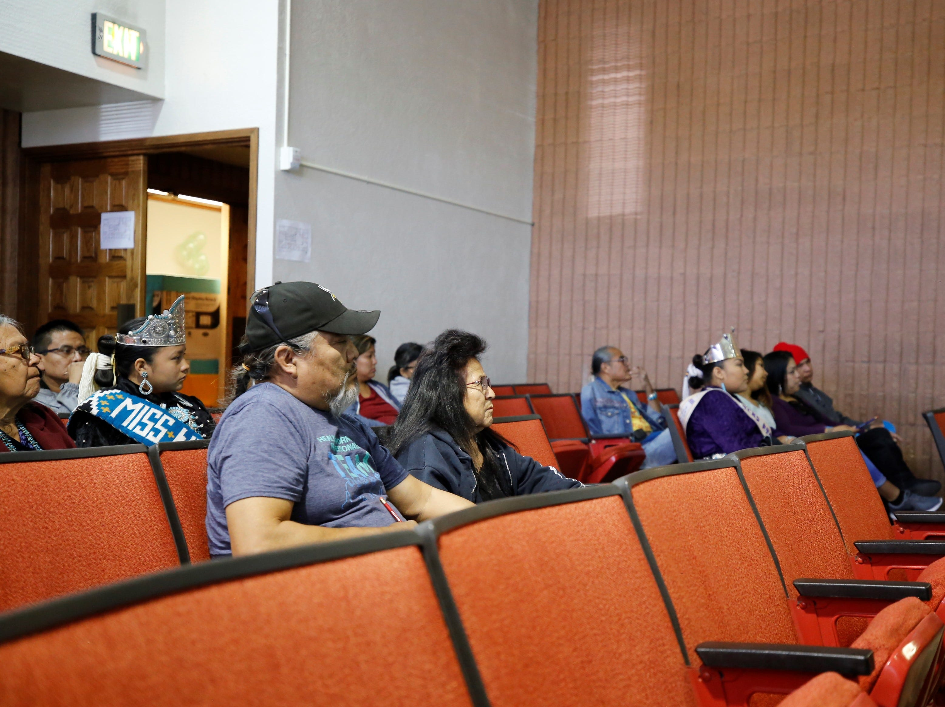 Audience members listen to a presentation about the probation program on Friday at Justice Day at the Shiprock Judicial District court.