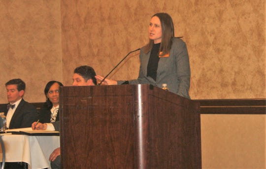 Wayne County Commissioner Melissa Daub discussed the purpose of her roads town hall.