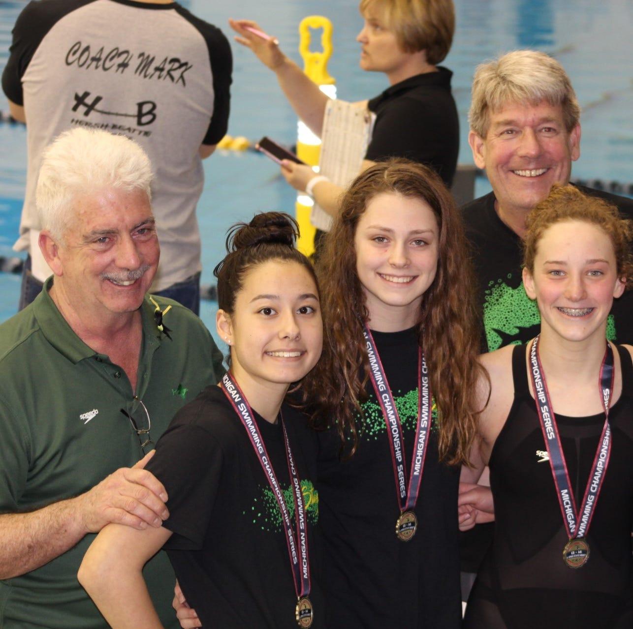 Northville Sturgeons break record at state swim meet