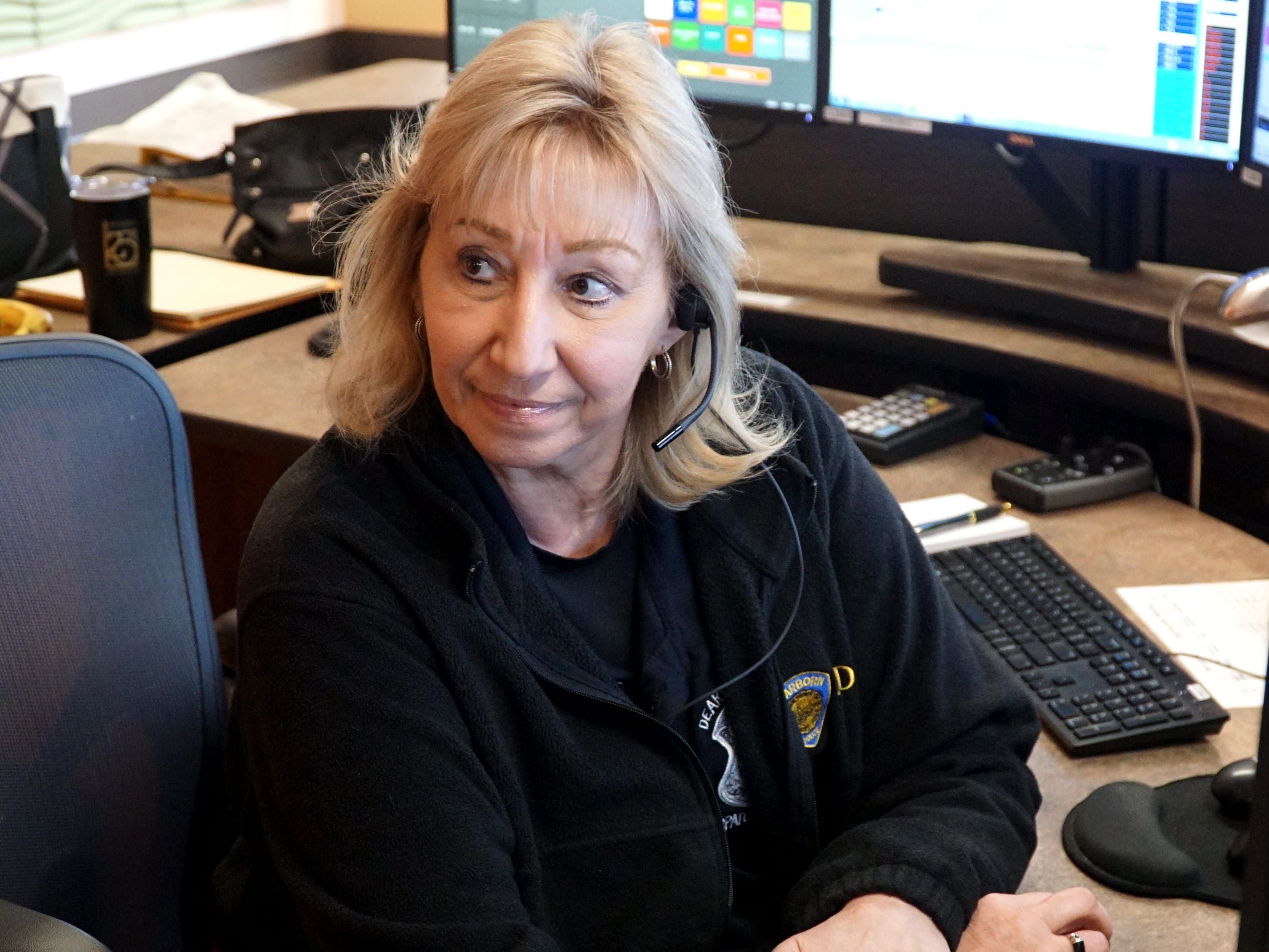 Diana Welchman, who recently retired from Dearborn's 911 dispatch center, talks about her job at the facility.