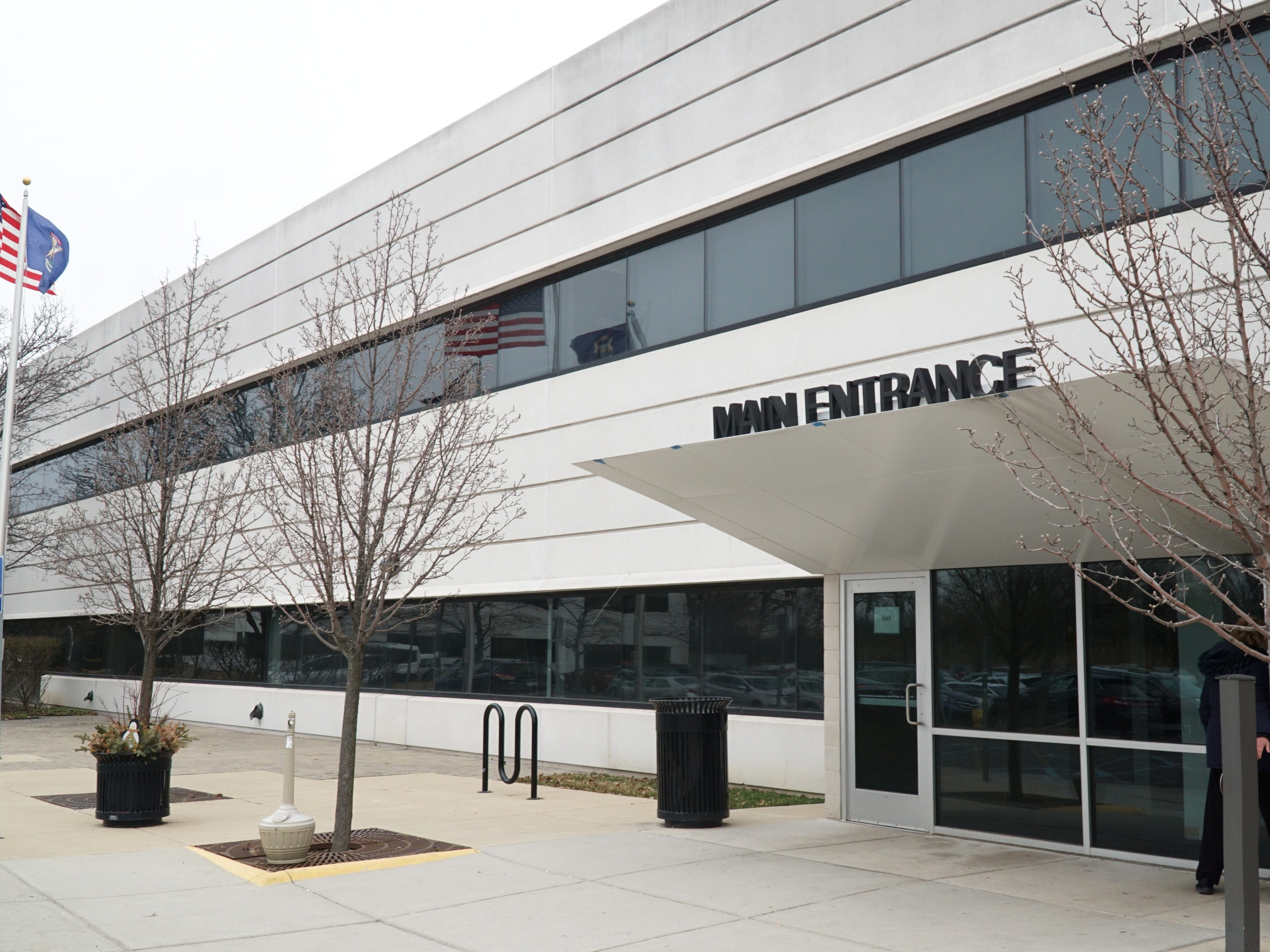 The City of Dearborn Administrative Center building on Michigan Avenue. The communities of Wayne, Westland and Garden City's 911 calls will be consolidated at the facility by mid-summer.