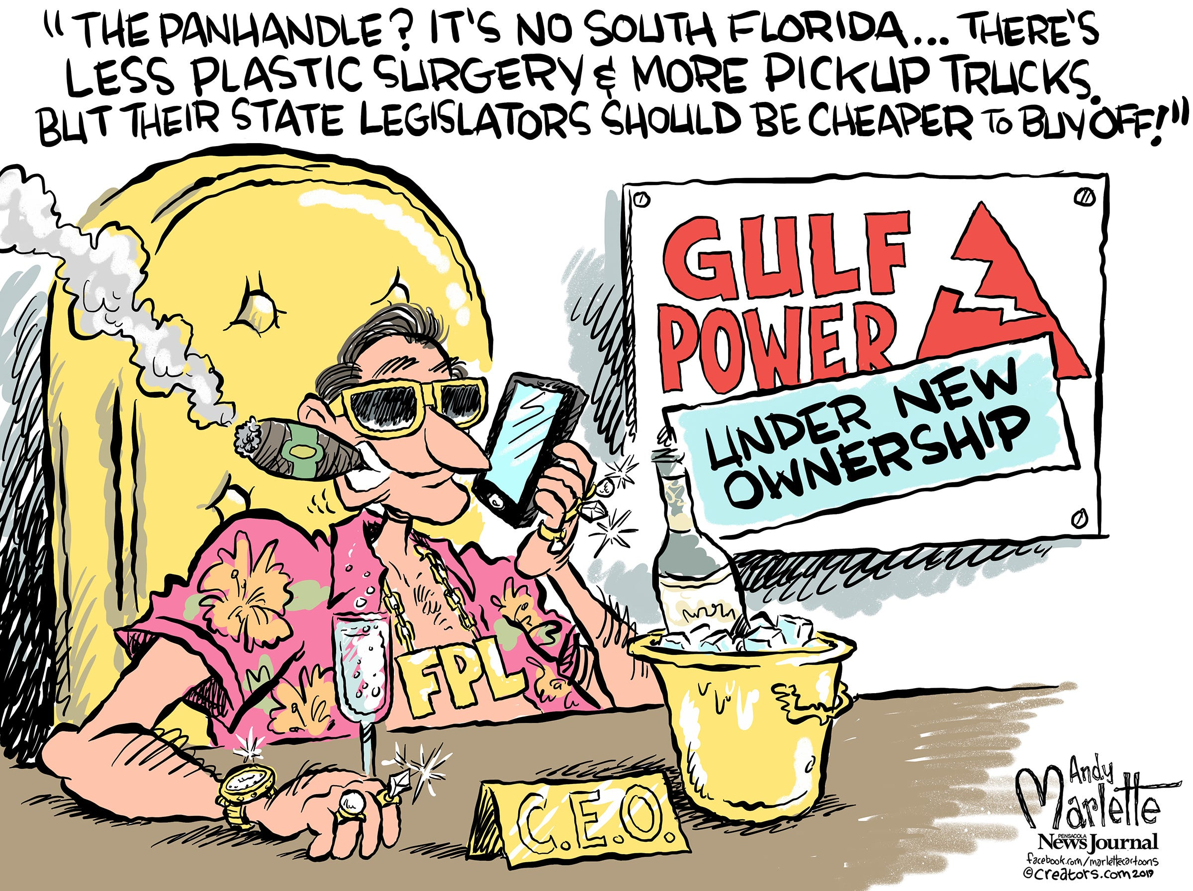 Local cartoons on Pensacola, Escambia and Santa Rosa County