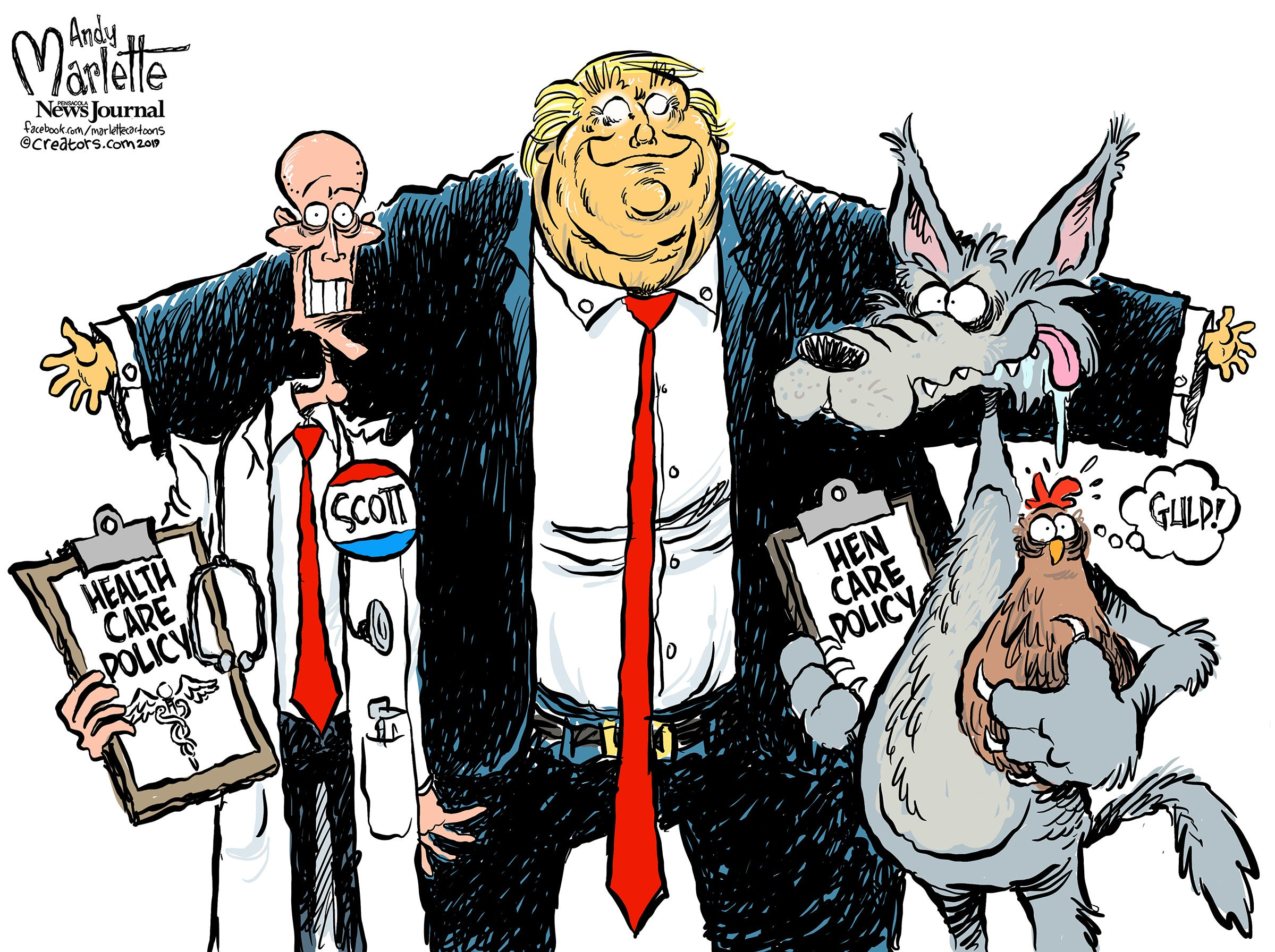Editorial cartoons drawn by a Florida Man about Florida politics