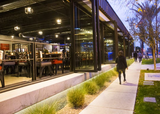 Exterior of Match Restaurant & Lounge at the Found:Re Hotel in Phoenix, Ariz. January 9, 2018.