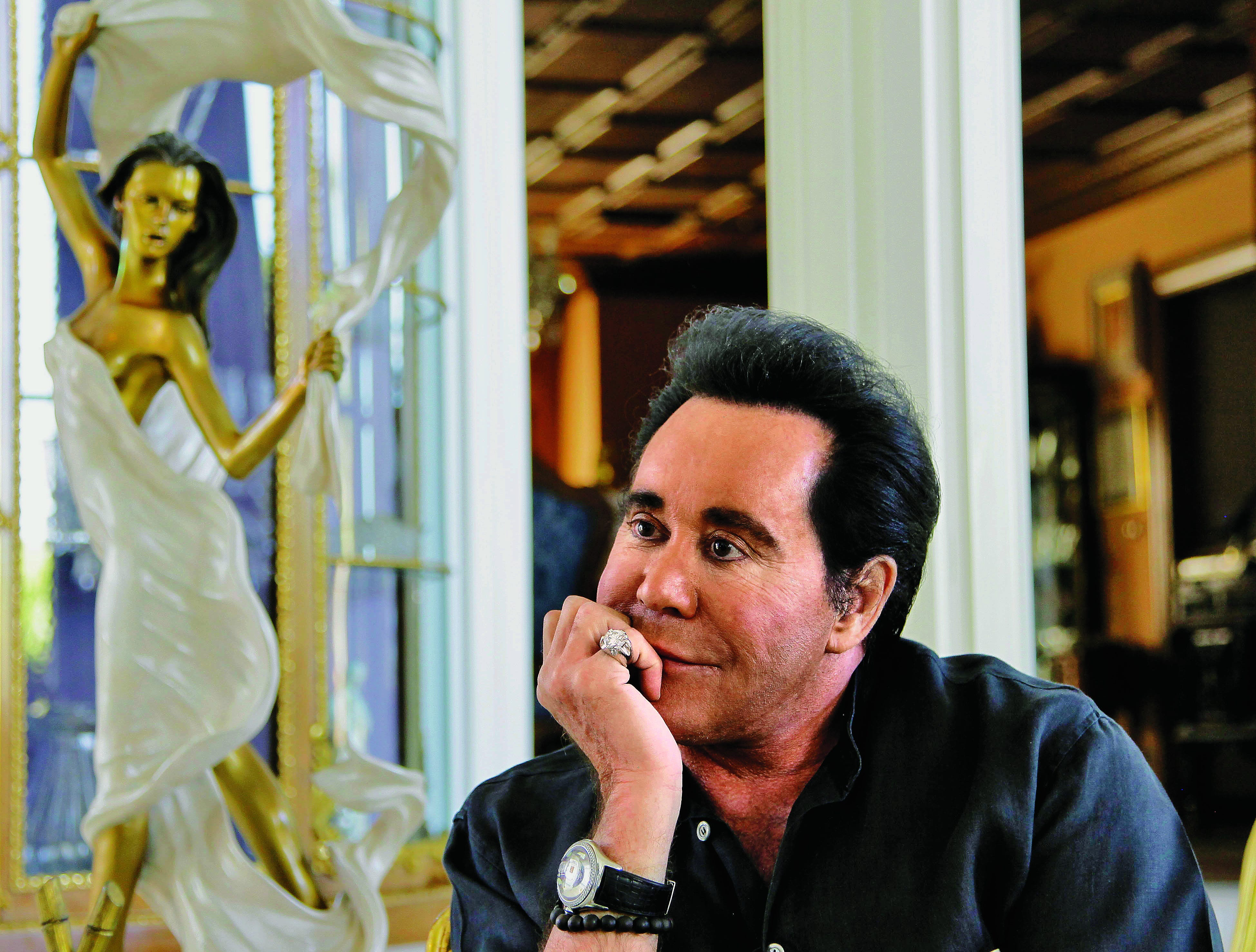 In this photo taken Friday, Nov. 12, 2010, Wayne Newton answers questions during an interview at his home in Las Vegas.