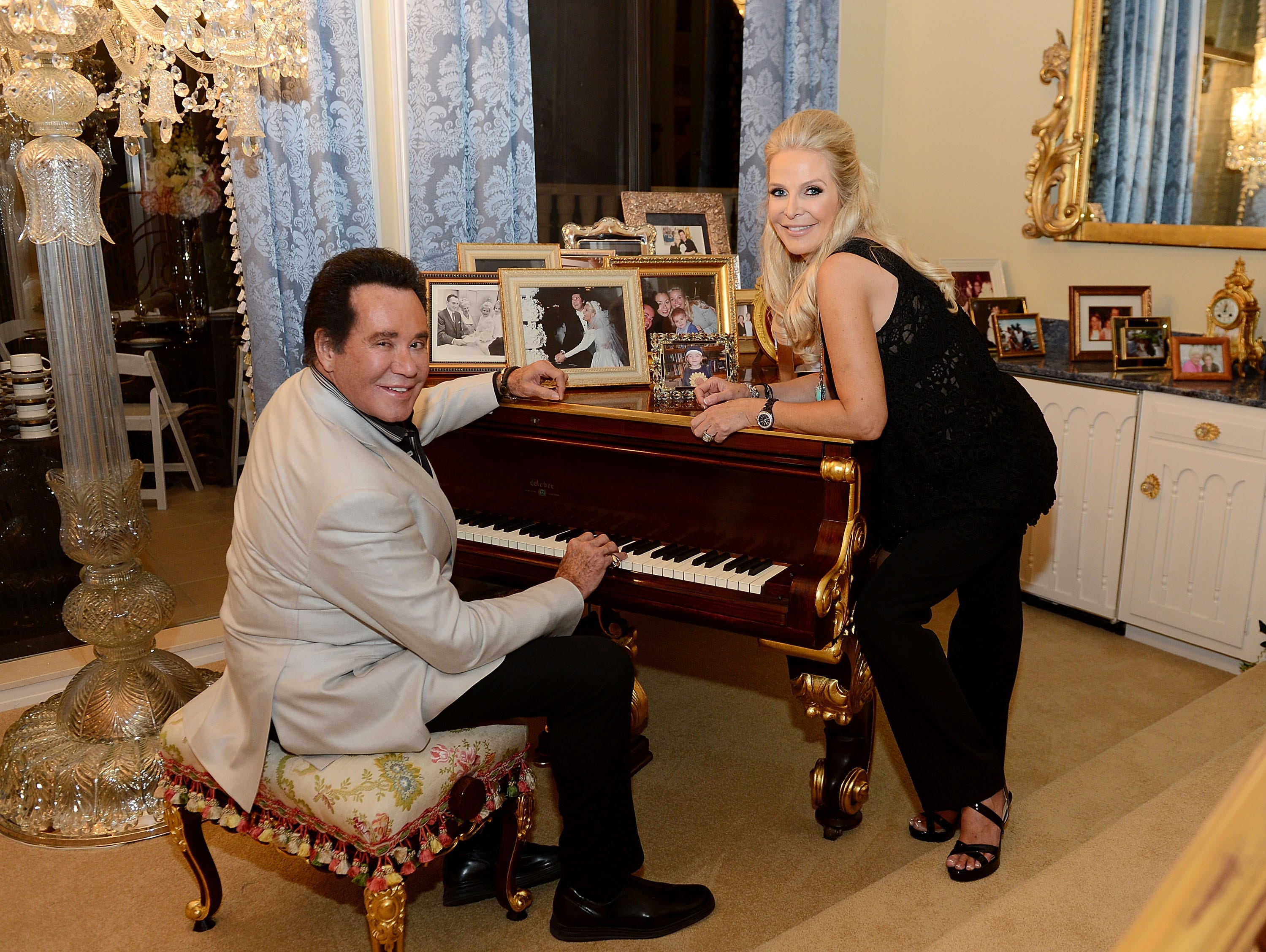 Wayne Newton and his wife Kathleen McCrone Newton attend the VIP opening of Casa De Shenandoah on Sept. 17, 2015 in Las Vegas