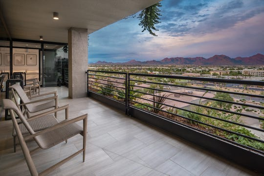 The Krebs condo at Optima Kierland Center is 2,775 square feet. Donna Krebs bought enough space for three standard units, and had them designed into one residence.