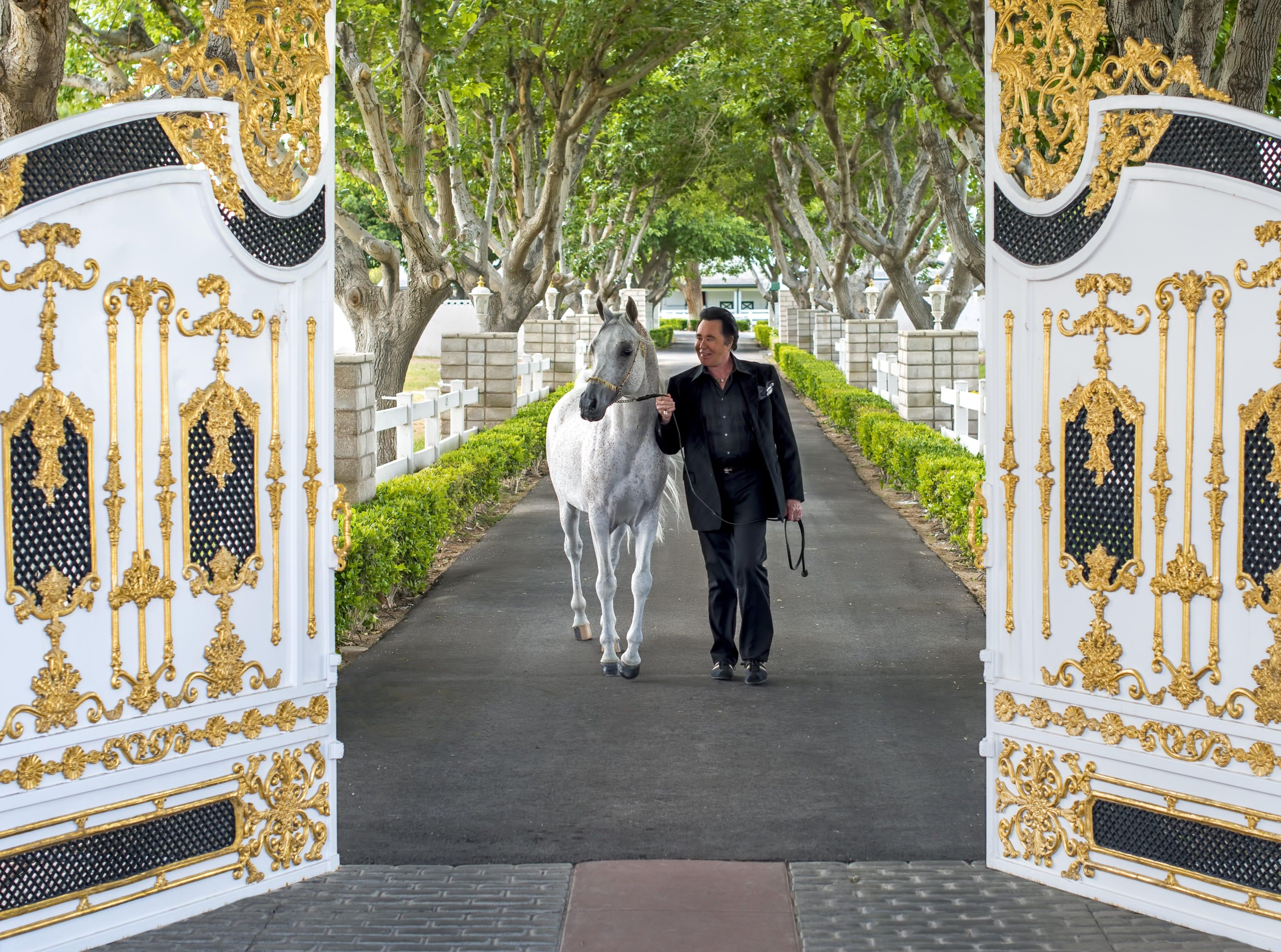 Wayne Newton opens the gates of his Las Vegas estate.