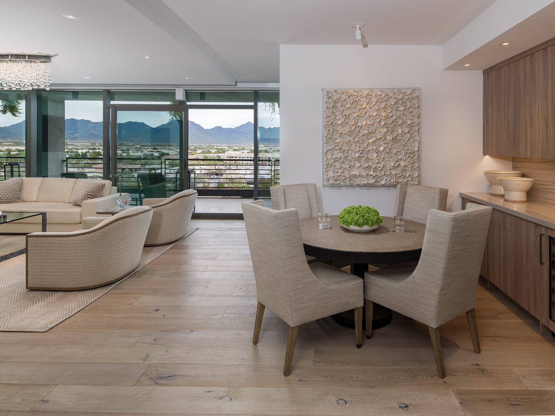 The Krebs home is located in the 7120 Optima Kierland condominium community in Scottsdale.