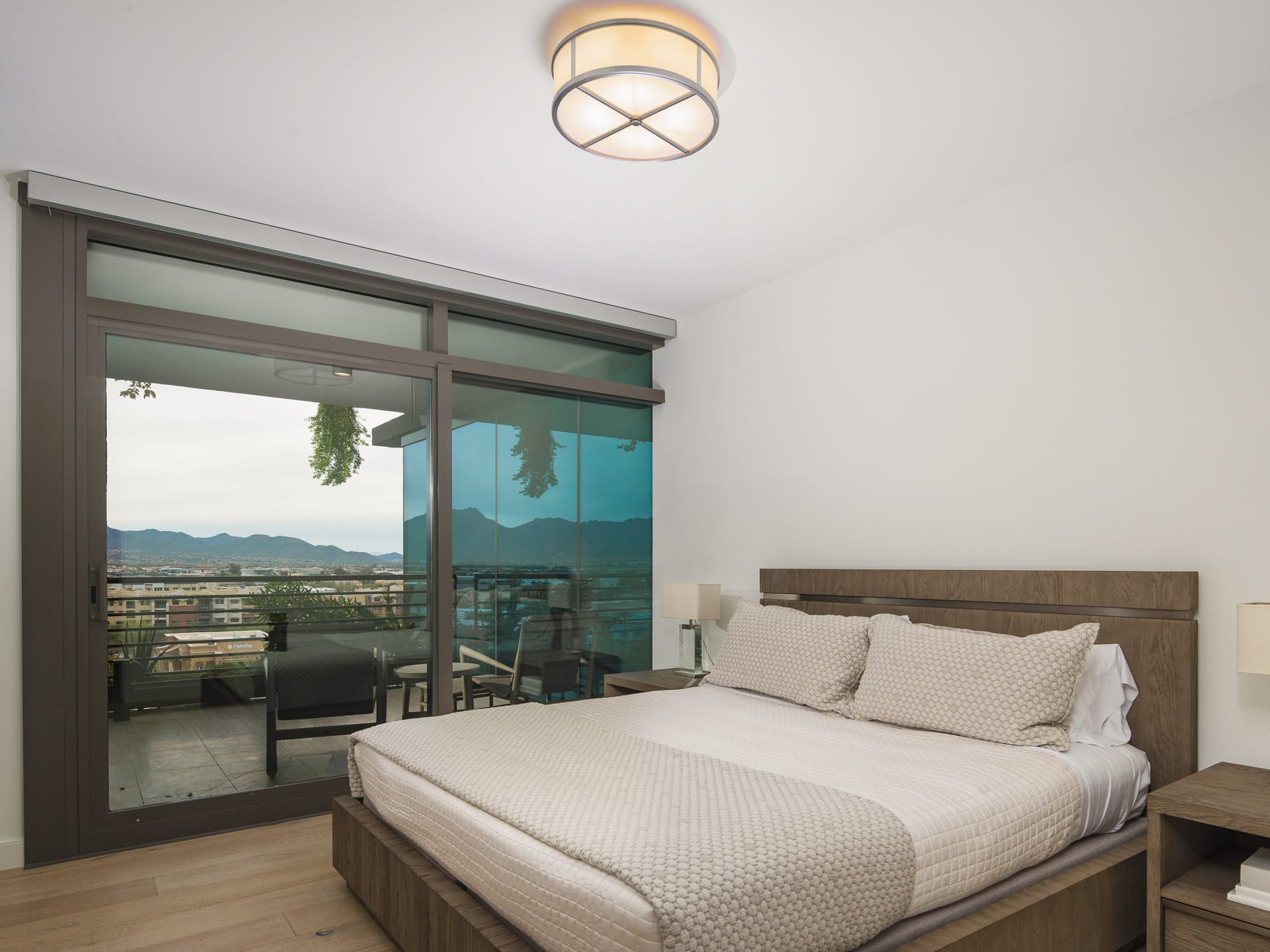 The rooms are awash with daylight thanks to floor-to-ceiling windows.