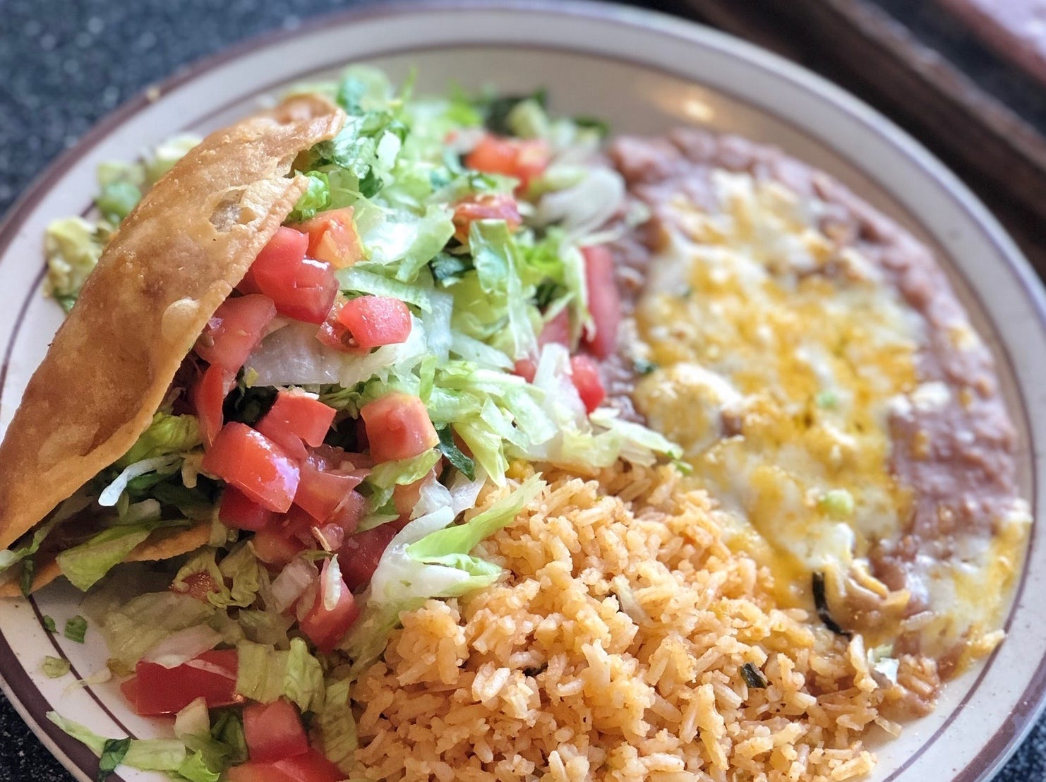 Serrano: The taco, rice and beans Tax Day special at Serrano's Mexican Restaurants.