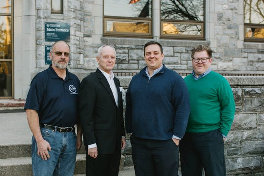 From left to right, the Myerstown Vitality Partnership team is made up of borough council president Bryan Rittle, SCORE consultant Charles Blankenship, borough manager Michael McKenna and communication and economic development officer Steffan Bomberger.