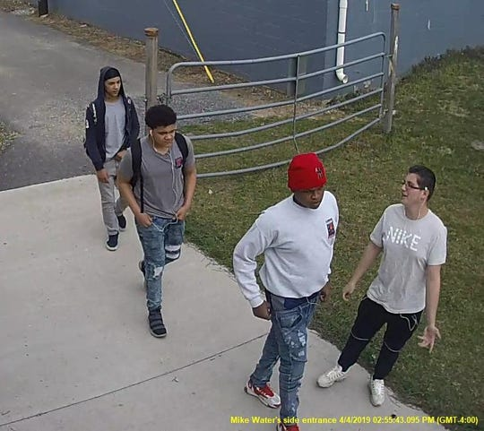 Chambersburg Police shared this image from surveillance video and asked the public's help in identifying the four suspects involved in the April 4 robbery.
