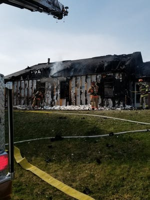 Four people were displaced in this fire at SpiriTrust Lutheran's Village at Sprenkle Drive on Thursday, April 4, 2019.