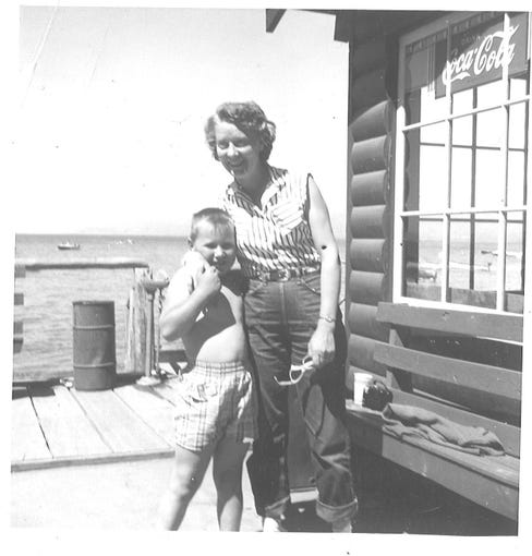 Patrick Colletti as a child growing up in Virginia City.