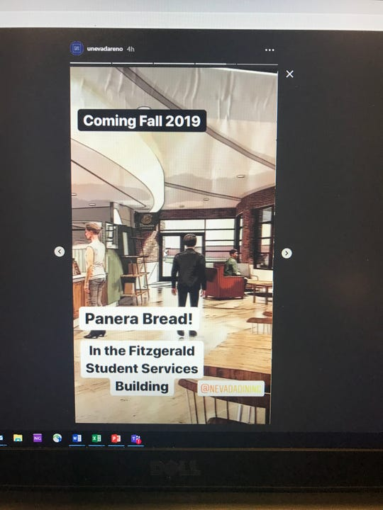 @unevadareno's Instagram Stories post teases Panera's plans to expand to the University of Nevada campus.