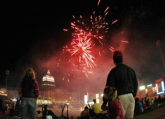 Fireworks displays at Frontier follow Friday games beginning May 24 and Saturday games beginning May 25.
