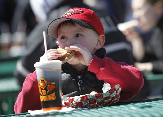 Every Monday at Frontier Field, the first 500 children (12 and younger) through the gate get a free hot dog, snack and soda.