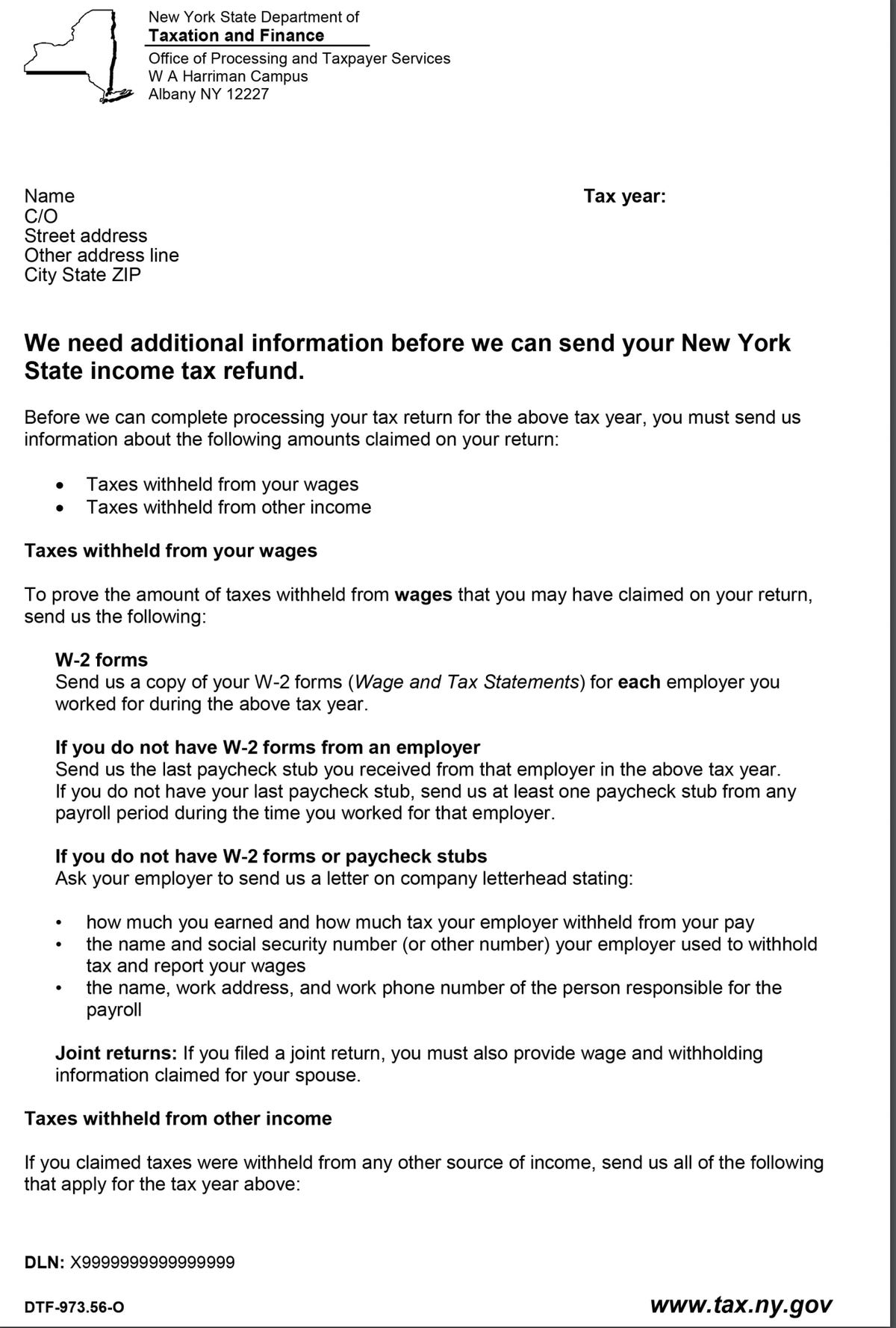 Get an NYS Tax Dept  letter? Don't throw it out or you might
