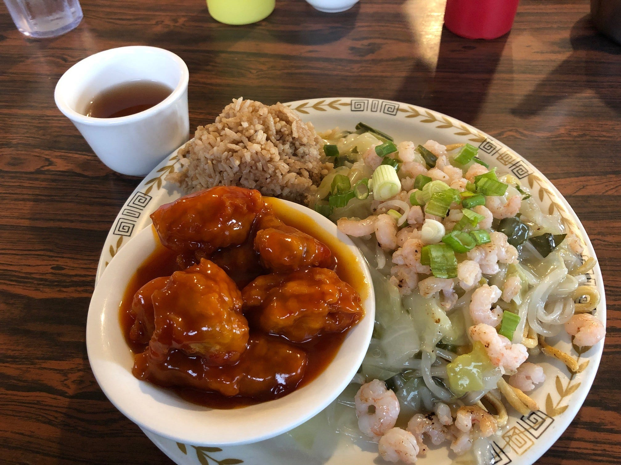 The Number 3 lunch special with sweet and sour pork.