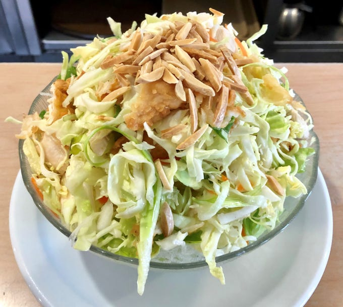 The Chinese chicken salad at Lim's.