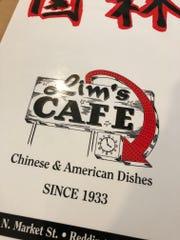 The menu at Lim's, Redding's oldest restaurant.