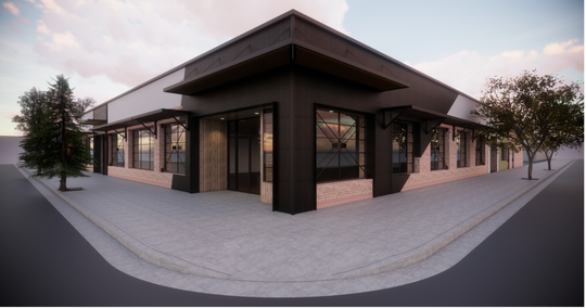 This is rendering of the 1557 Pine St. building showing a view from the corner of Pine and Yuba streets.