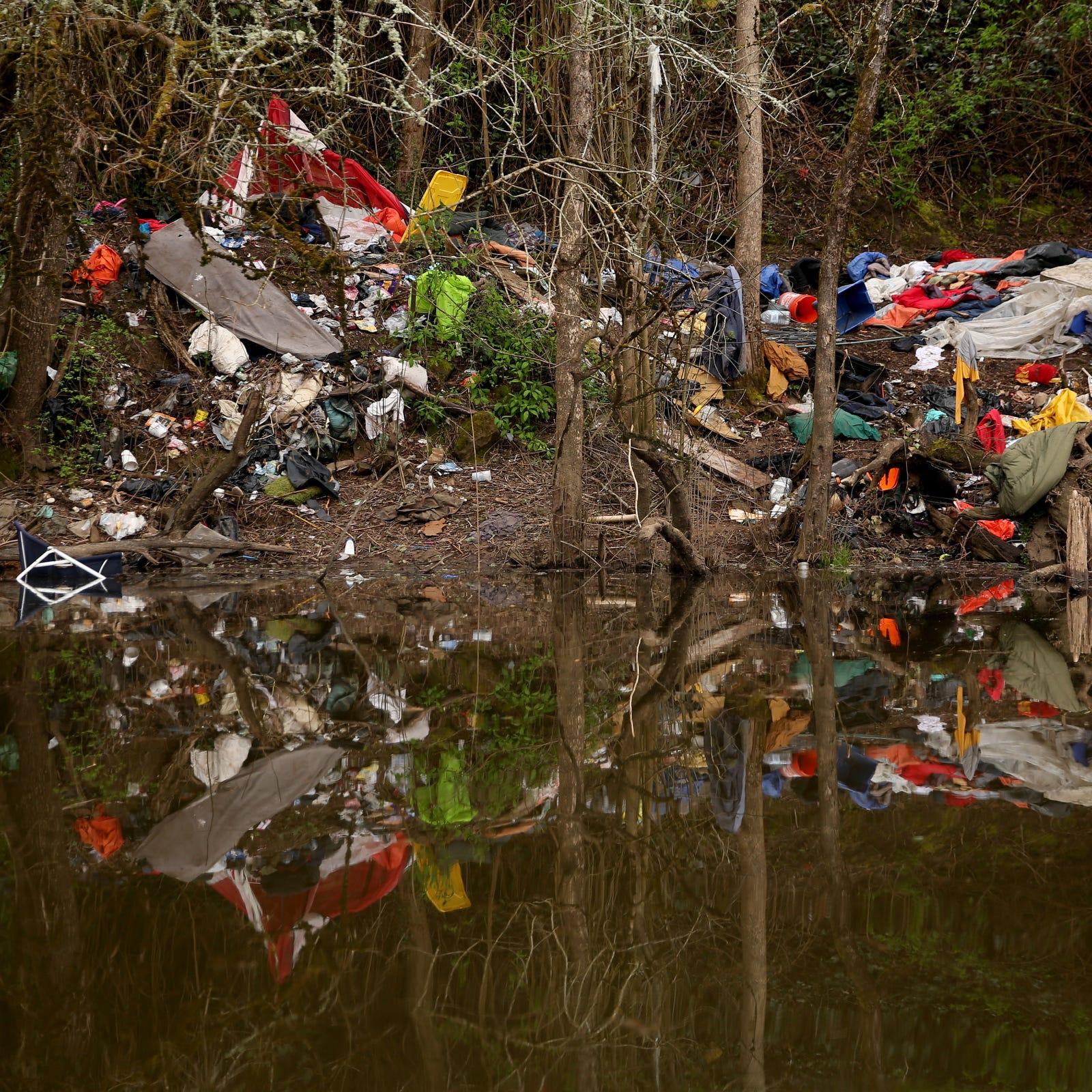 Piles of trash along Salem's Willamette Slough spur concerns; cleanup program starts in May