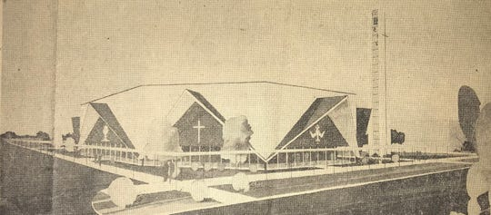 The initial proposal for St. Luke in 1961 called for an octagonal building at an estimated cost of $187,000 and seating for 400.