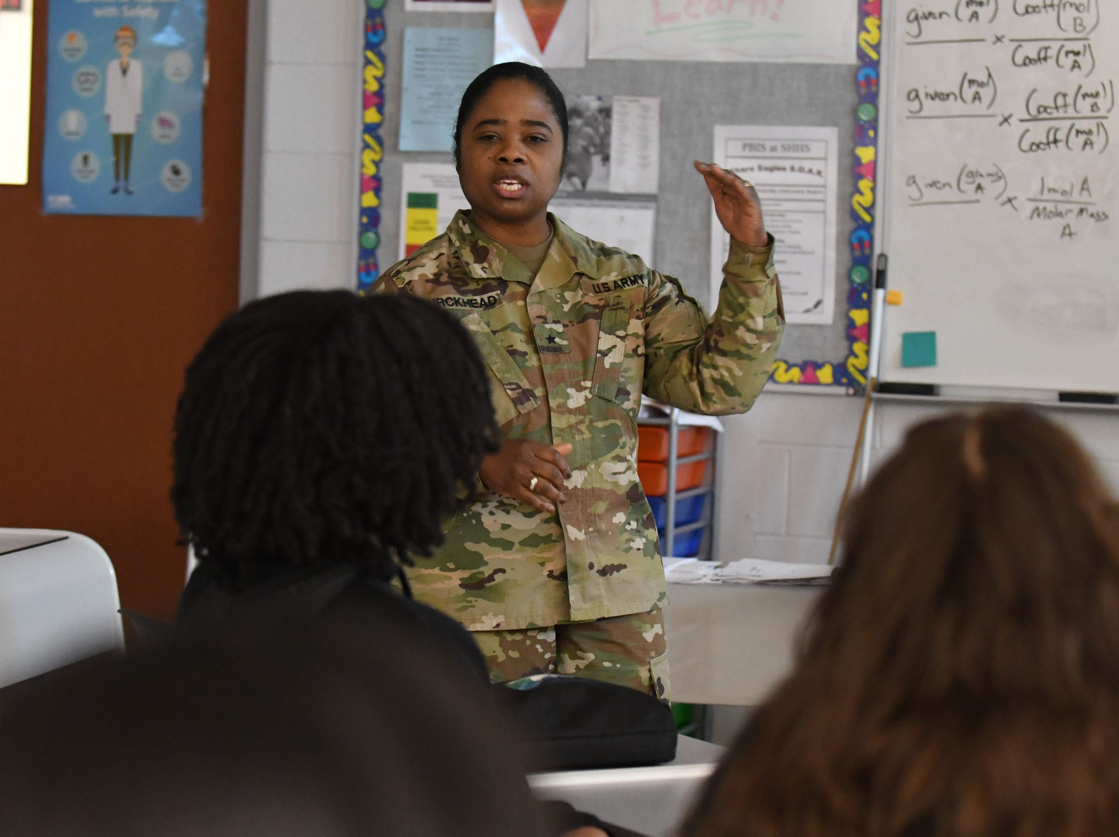 General Birckhead and her team of leaders spoke with the students about leadership and making good decisions on Friday, April 5, 2019.