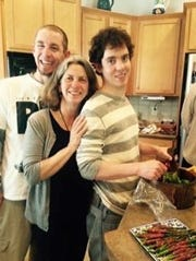 Andrew and his mother Elizabeth and his brother Jacob.