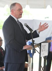 Democratic Gov. John Bel Edwards challenged his two Republican opponents Wednesday to join him in three statewide televised debates.