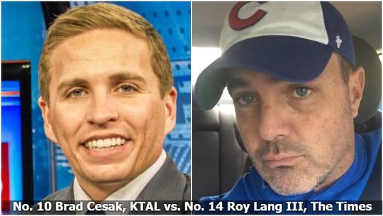 Brad Cesak vs. Roy Lang III in 2019 Media Survivor, Final Four