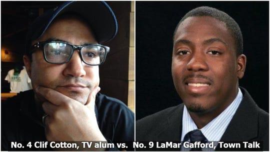 Clif Cotton vs. LaMar Gafford, 2019 Media Survivor, Final Four