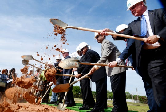 Demolition and groundbreaking for BRF's New CMIT (Center for Molecular Imaging and Therapy) Building with Governor John Bel Edwards and Mayor Adrian Perkins Friday afternoon, April 5, 2019.