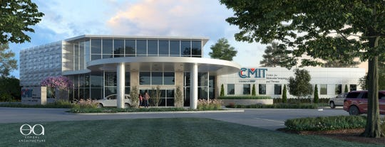 Architect rendering of the new Center for Molecular Imaging and Therapy