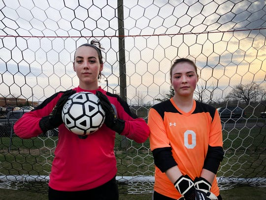 Stuarts Draft's Emma Gallaugher and Wilson Memorial's Liz Fosnocht are the starting goalkeepers for their varsity teams.